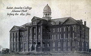 Saint Anselm College - Alumni Hall in 1892, before the fire