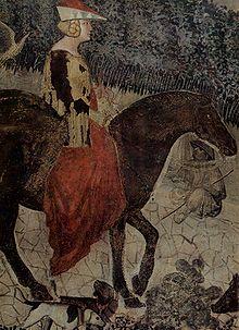 Orlando Bonsignori forse rappresentato in un affresco di Ambrogio Lorenzetti nel Palazzo Pubblico di Siena.