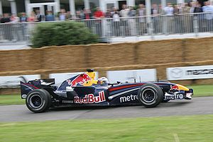 Michael Ammermüller - Ammermüller driving a reliveried Red Bull RB2 at the 2007 Goodwood Festival of Speed.
