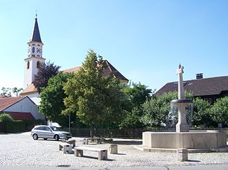 Ampfing - Town square