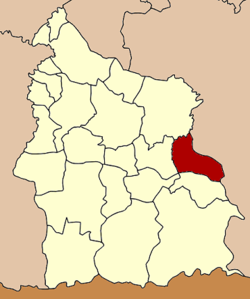 Amphoe location in Sisaket Province