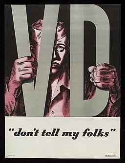 An American serviceman clutching the letters 'VD' Wellcome L0038318