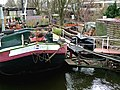 An original houseboat as kingdom in the Entrepotdok canal, near the bridge; Amsterdam 2013.jpg