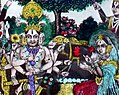 An unusual coronation scene in which Rama is shown with twelve arms a postcard by S. S. Brijbasi and Sons, c. 1920's 2.jpg