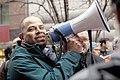 Andre Vasquez at Lincoln Yards protest, April 2019.jpg