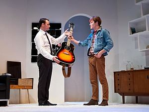 Andrew Lancel - Image: Andrew Lancel & Will Finlason in 'Epstein The Man Who Made The Beatles'