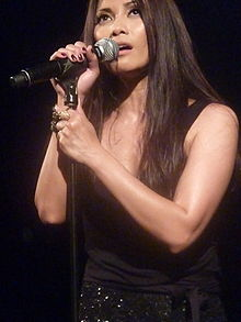 The singer Anggun concert at the Trianon Paris in June 2012
