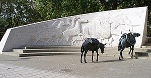 Animals in War Memorial - Image: Animals in War west