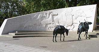Animals in War Memorial - Image: Animals in War west