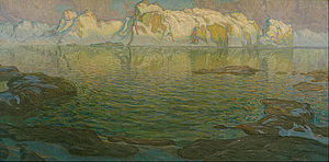 Anna Boberg - Anna Boberg, Silent Evening: Scene from Lofoten, oil on canvas, 1910-14.