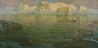 Anna Boberg - Anna Boberg, Silent Evening: Scene from Lofoten, oil on canvas, 1910-14.