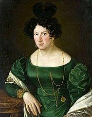 Portret kobiety w zielonej sukni