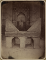 Antiquities of Samarkand. Madrasah of Bibi Khanym. Congregational Mosque. View of the Marble Reading-Stand for the Qur'an inside the Mosque WDL3769.png