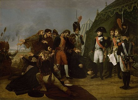Surrender of Madrid, by Antoine-Jean Gros, 1810, oil on canvas. Madrid fell in the aftermath of Somosierra. Antoine-Jean Gros - Capitulation de Madrid, le 4 decembre 1808.jpg