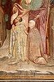 Antonio vite e collaboratore, arbor vitae, trasfigurazione e miracolo della madonna della neve, 1390-1400 ca. 24 ss. g. battista, forse g. evangelista e ludovico di tolosa coi committenti 2.jpg