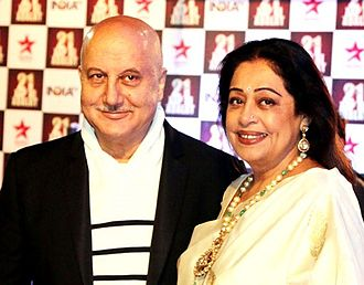 Anupam Kher - Anupam with wife Kirron, December 2014