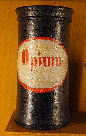 Opium - Apothecary vessel for storage of opium as a pharmaceutical, Germany, 18th or 19th century