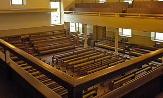 Arch Street Friends Meeting House - Image: Arch St Meeting interior