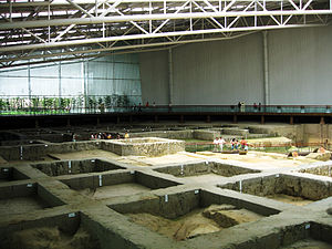 Chengdu - The archaeological site of Jinsha is a major discovery in Chengdu in 2001.