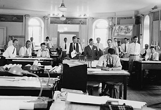 Architectural firm - A 1940s architectural office.