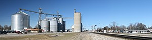 Arcola, Illinois - Grain elevators at the intersection of Route 133 and US Route 45.