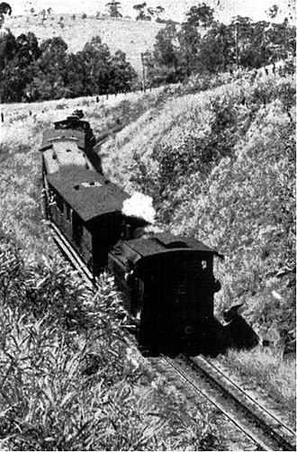 Mount Morgan, Queensland - A rack train climbs towards Mount Morgan
