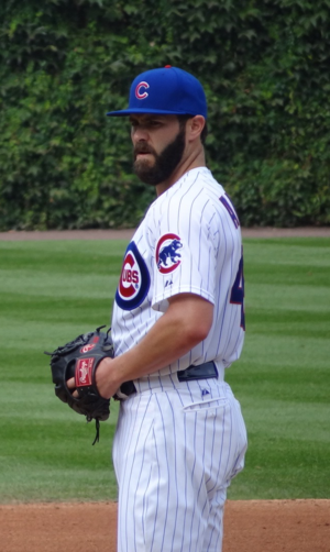Jake Arrieta - Arrieta with the Cubs in 2015