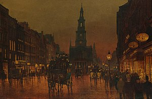 Arthur Edmund Grimshaw - The Strand, painted by Grimshaw in 1899