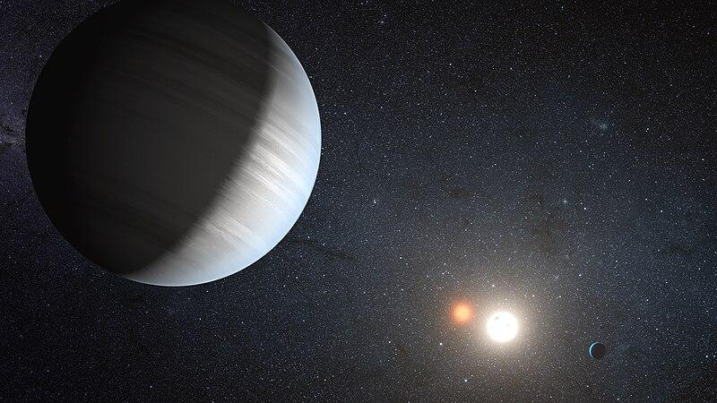 Экзопланета, находящаяся в двойной системе Kepler-47 глазами художника.