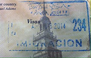 Visa policy of the Kingdom of the Netherlands in the Caribbean - Aruba passport stamp