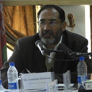 Asadullah Hamdam Afghan politician