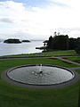 Ashford Castle, Lough Corrib and fountain.jpg