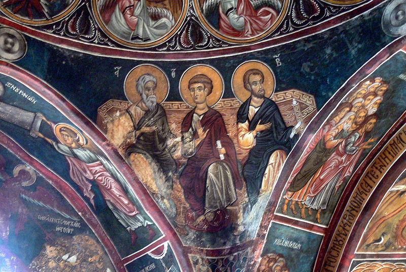 File:Asinou - Kirche Narthex 5 Apostel.jpg