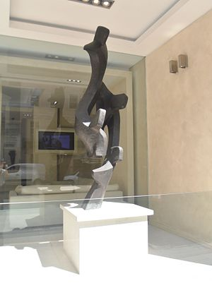 Melrose Industries - Sculpture at Melrose's head office at Leconfield House in Curzon Street, London