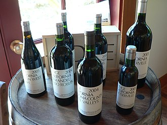 Hewitt Crane - Assorted bottles from Ridge, the winery co-founded by Crane.