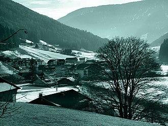 Sarntal - The frazione  of Astfeld in winter.