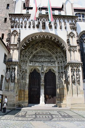 Augsburg Cathedral - The southern portal.