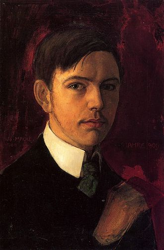 August Macke - August Macke, Self-portrait, 1906, oil on canvas