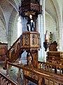 Auray.- Statue de Saint Goustan dans la chaire de l'église Saint-Goustan.jpg