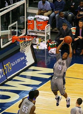 2007–08 Georgetown Hoyas men's basketball team - Image: Austin Freeman jump