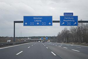 Bundesautobahn 9 - Potsdam interchange