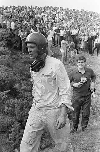 Dan Gurney - Gurney after his accident at the 1960 Dutch Grand Prix, a defining moment in his life
