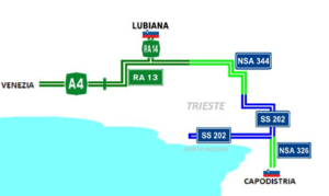 Highways near Trieste, Italy