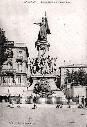 Félix Charpentier - Avignon's Monument du Centenaire