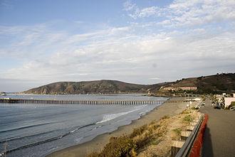 Avila Beach, California - Avila Beach, with Point San Luis at left
