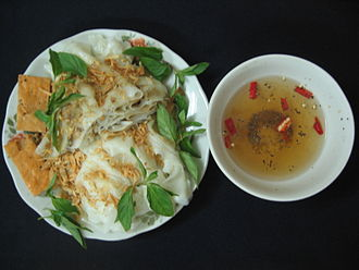Bánh cuốn - Image: Bánh cuốn Thanh Trì