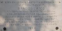 Bárdos Lajos emléktábla, Dózsa György utca, 2017 Nyíregyháza.jpg