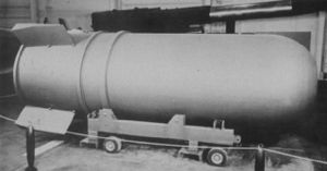 B41 nuclear bomb - The casing of a B-41 thermonuclear bomb.