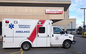 Royal Columbian Hospital - Image: BC Ambulance at RCH
