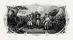 BEP vignette by Frederick Girsch of Trumbull's painting Surrender of General Burgoyne
